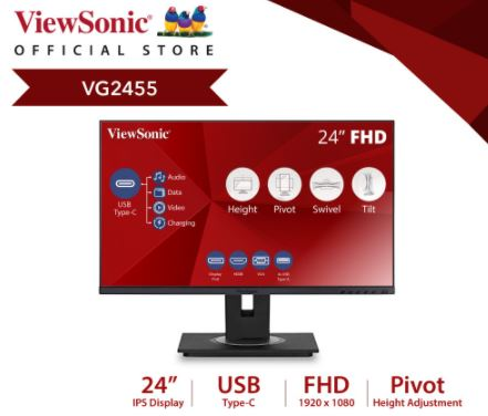 viewsonic vg2455 best monitors for work