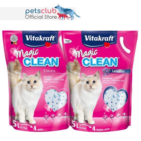 vitakraft magic clean cat litter best cat litter singapore non-clumping crystal silica