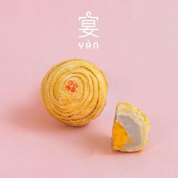 Yan Thousand Layer Yam Mooncake with yolk
