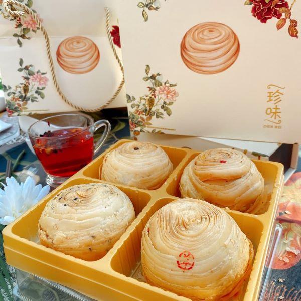 ZhenWei Crispy Teochew Yam Mooncake box of 4 best singapore
