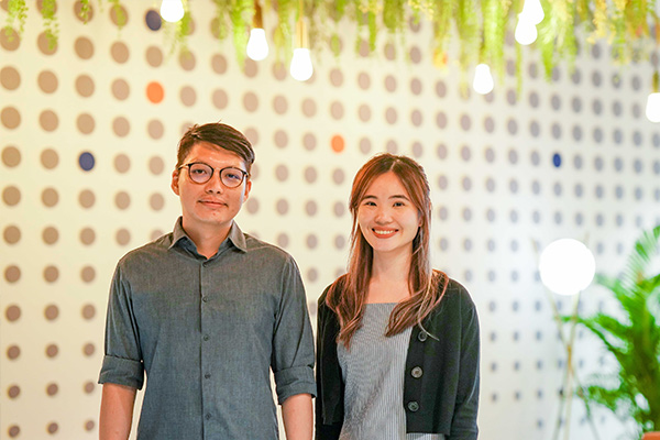 Zhiyang and Sophia from #TeamShopee