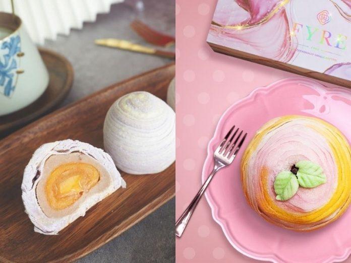 August Baking Studio flaky teochew yam mooncakes and Fyre Singapore teochew yam mooncake