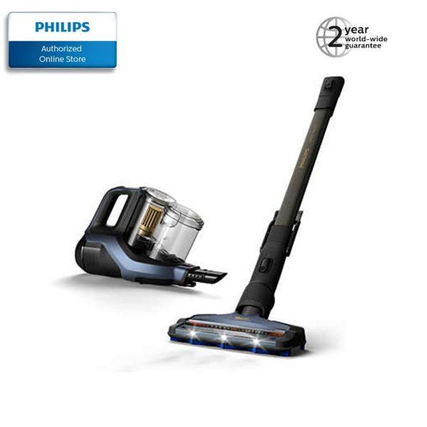 Philips XC8043 Cordless Stick Vacuum Cleaner blue black