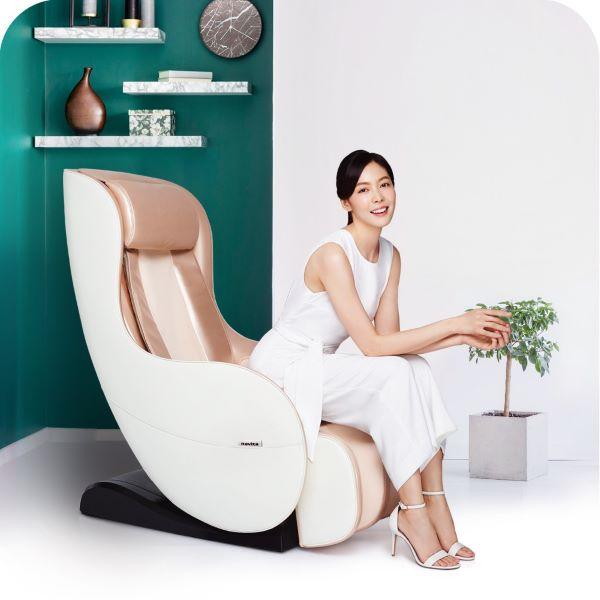 white champagne minimalist novite m series massage chair MC8 best singapore