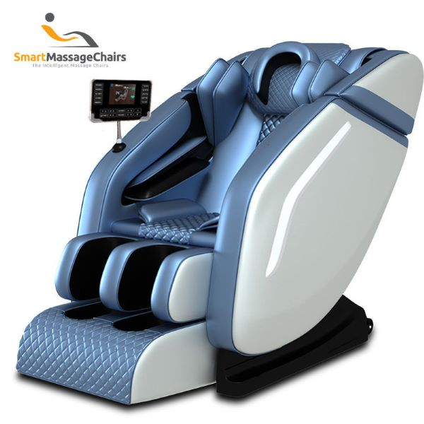 SMC Multi-Functional Massage Chair blue with foot massager best massage chair singapore