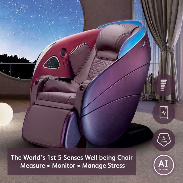 OSIM uDream Well-being Chair purple red blue