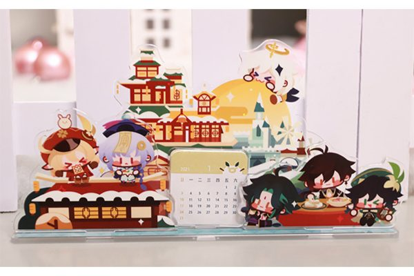 genshin merch singapore invitation to mundane life acrylic calendar desk monthly planner