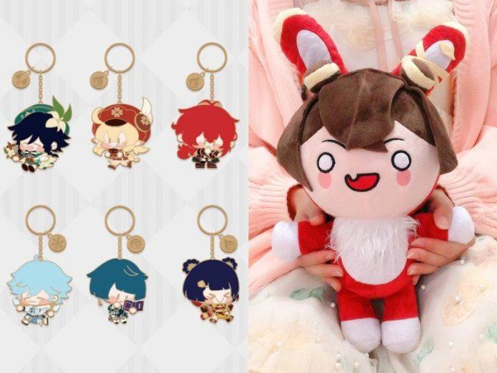 genshin impact merchandise singapore keychain plushie amber bunny