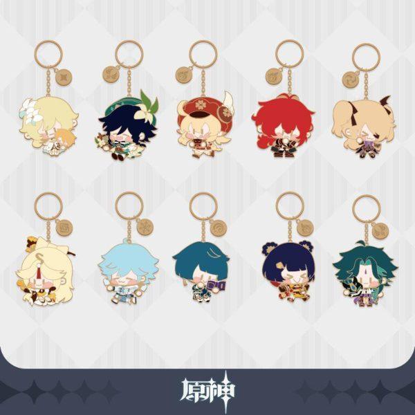 genshin impact merchandise singapore Q ver. characters keychain