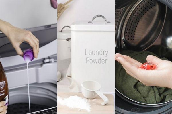 liquid laundry detergent vs powder vs pod
