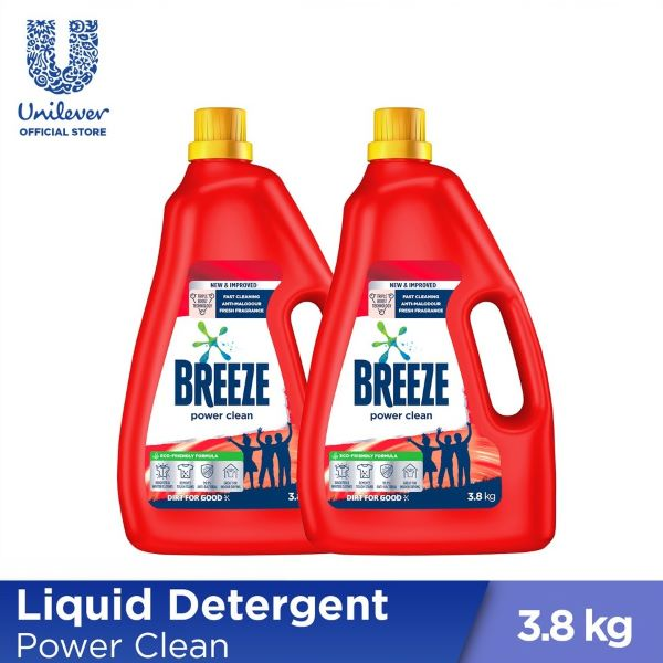 two red bottle of breeze laundry detergent best singapore
