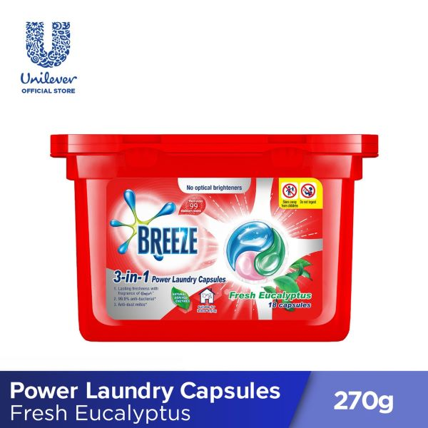 breeze laundry detergent capsules red box