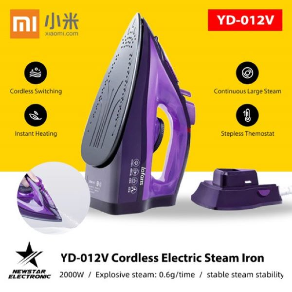 Xiaomi Lofans Cordless Steam Iron purple with black soleplate