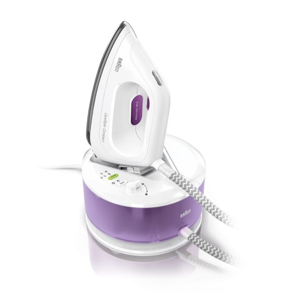white and lavender Braun CareStyle Compact Steam Generator Iron best singapore