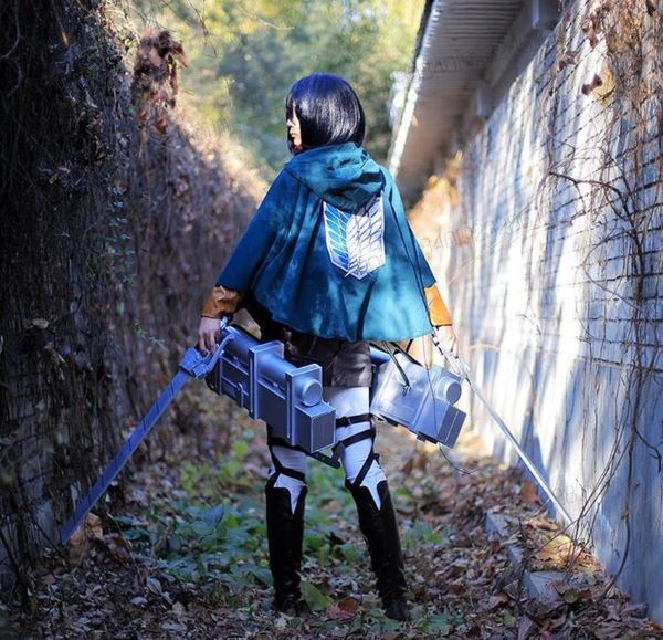 attack on titan netflix mikasa cosplay easy halloween costume green scouts cloak