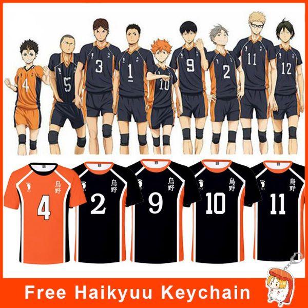 haikyu!! volleyball jersey orange and black