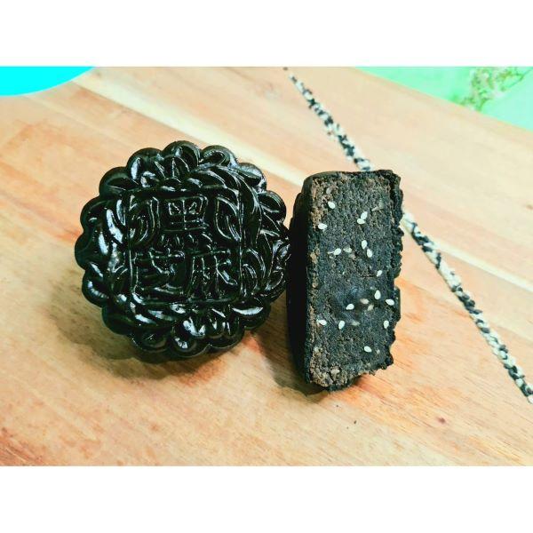 black charcoal skin mooncake low sugar singapore