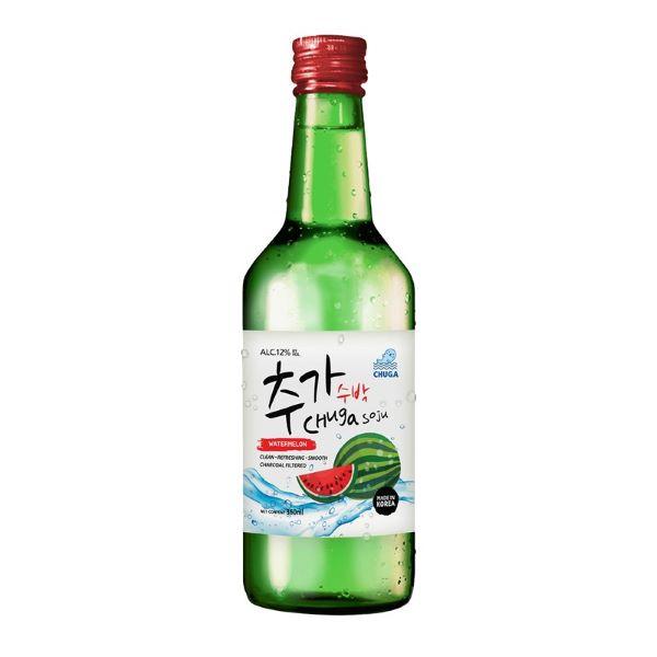 bottle of watermelon soju