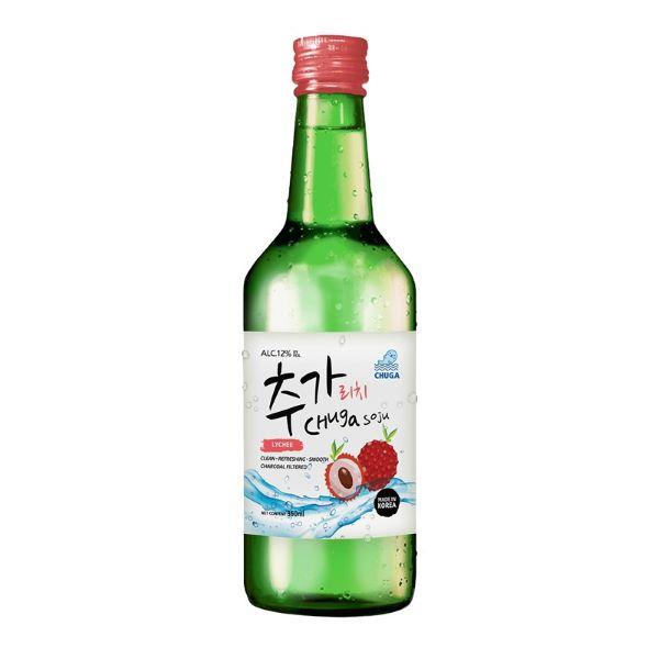 bottle of lychee soju